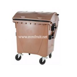 """Пластмасов контейнер тип """"Бобър"""" 1100 литра за БИО отпадъци"""