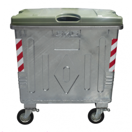 Метален контейнер с пластмасов капак тип Ракла 1100 литра