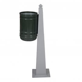 Метален парков кош единичен, модел 1 - 32 литра